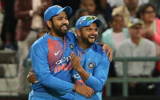 Rohit Sharma (L) feels Suresh Raina will make an Indian cricket team comeback