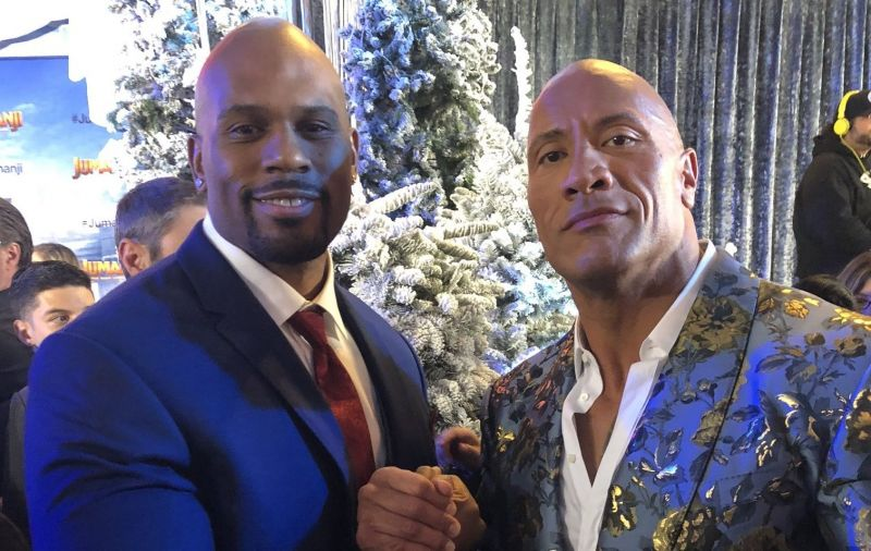 Shad Gaspard with The Rock [Image - Twitter/Shad Gaspard]