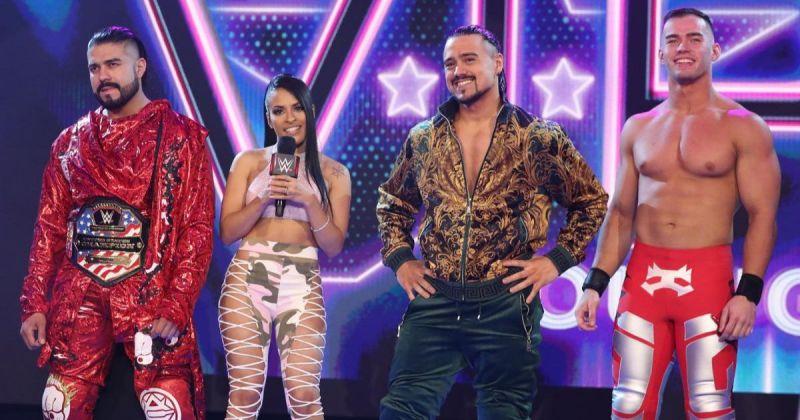 Andrade, Zelina Vega, Angel Garza and Austin Theory.