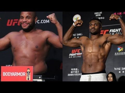 Daniel Cormier and Francis Ngannou (image courtesy - youtube.com)