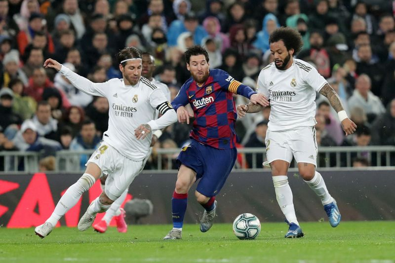 Real Madrid and Barcelona in the El Clasico