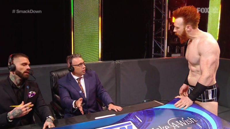 Michael Cole was careful this week