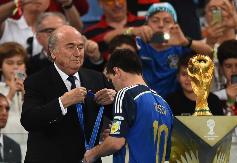 Sepp Blatter disapproved of Lionel Messi winning the Golden Ball