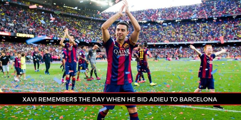 Xavi posted an Instagram picture, five years to the day since his last league game (Picture: Sportskeeda)