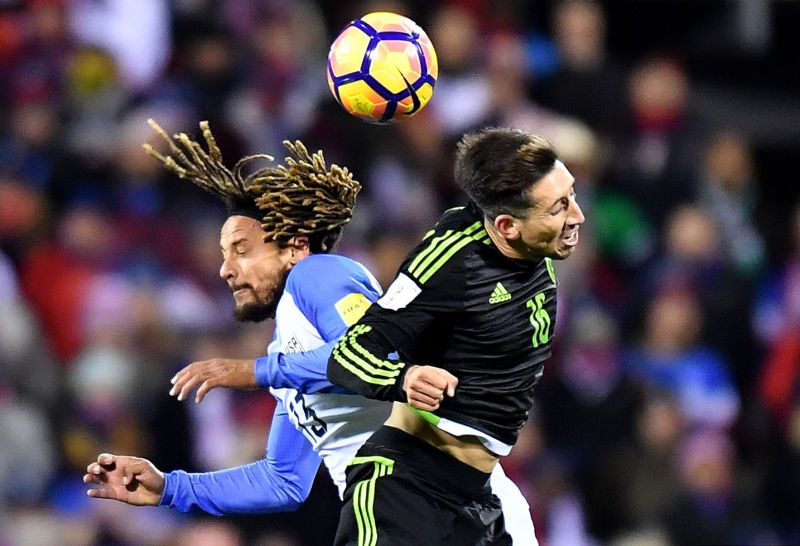 Jermaine Jones tussles it out for the ball