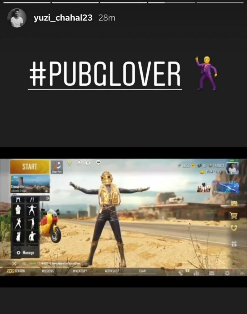 Chahal has made no secret of his love for PUBG Mobile