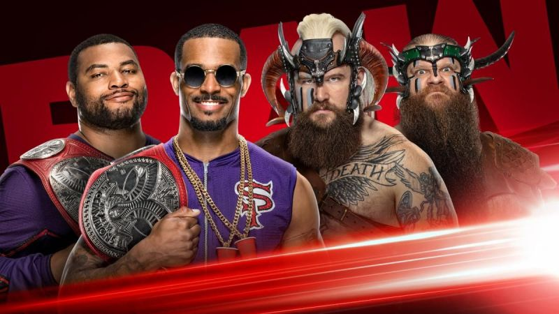 The Street Profits take on The Viking Raiders