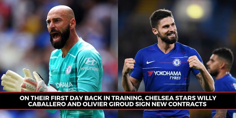 Chelsea players sign new contracts as they train in groups for the ...