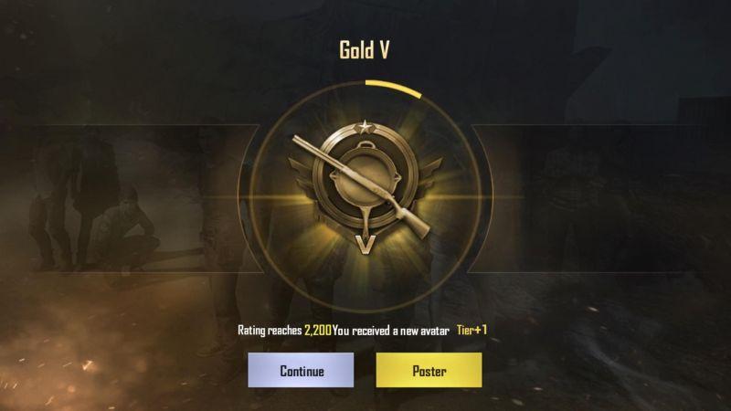 PUBG Mobile Gold Rank