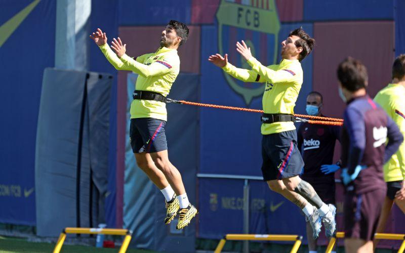 Barcelona players return to training following the coronavirus lockdown