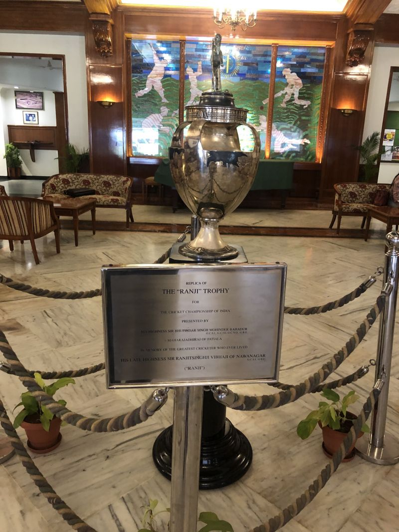 Replica of Ranji Trophy at the main lobby