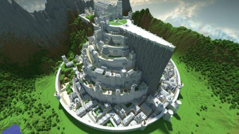 Minas Tirith in Minecraft (picture credits: pcgamesn)
