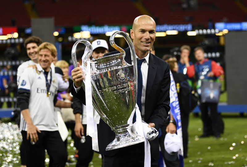 Zinedine Zidane is the only manager to lift three consecutive Champions League titles.