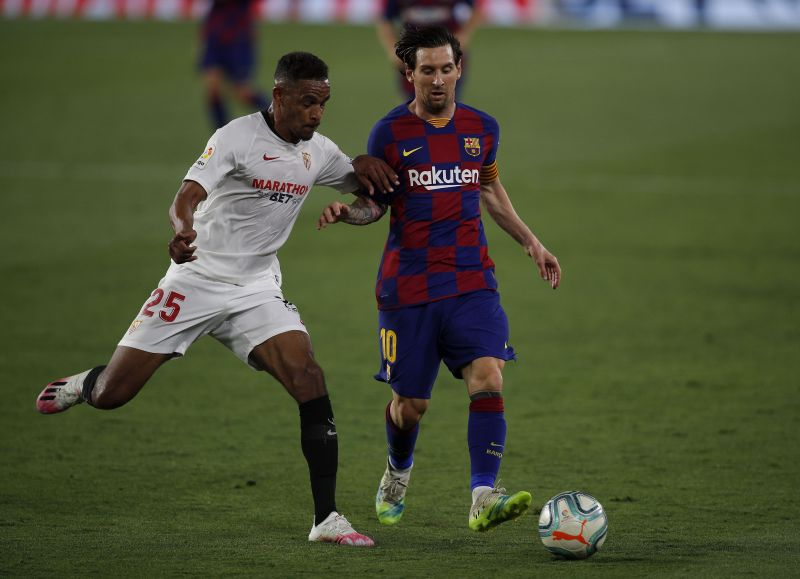 Club captain Lionel Messi in action for Barcelona