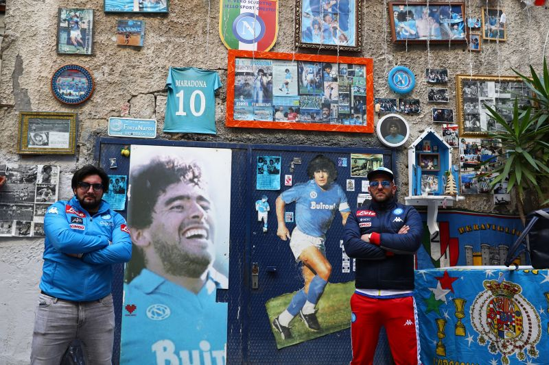 Diego Maradona became a living legend during his time at SSC Napoli from 1984-1991. He is idol-worshipped even today in the city.