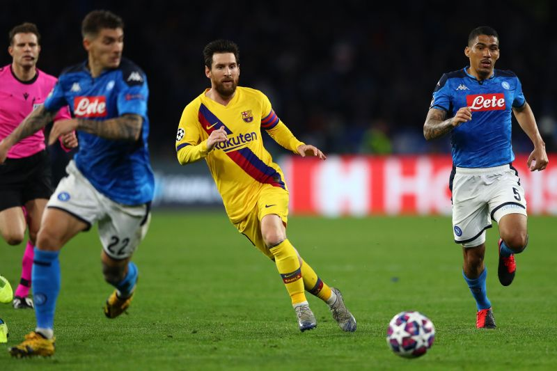 Barcelona played a 1-1 draw vs Napoli in the first leg of their Champions League Round of Sixteen fixture.
