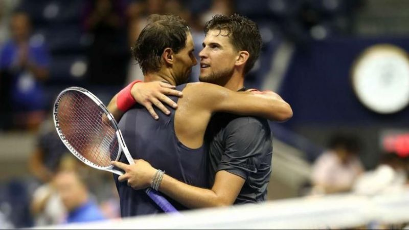 Rafael Nadal (left) could return to action in July if it goes as per Dominic Thiem