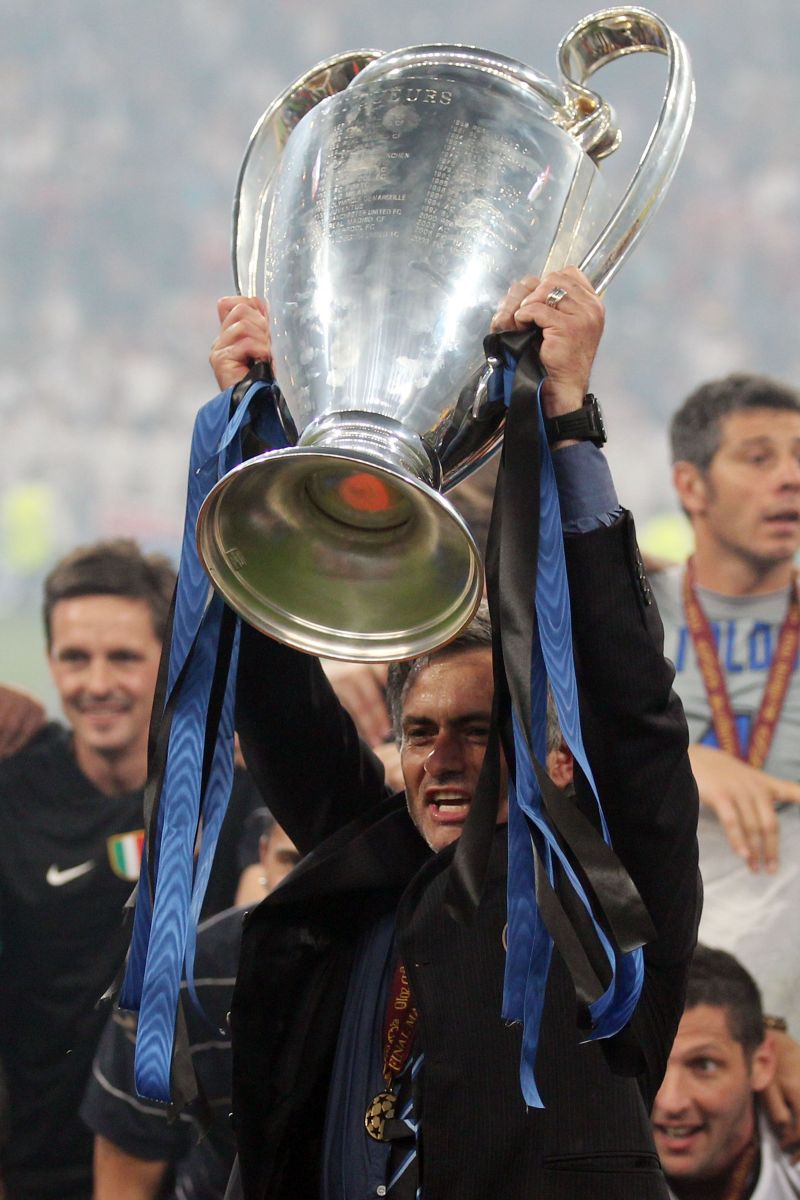 Jose Mourinho lifted the 2010 Champions League title with Inter Milan.
