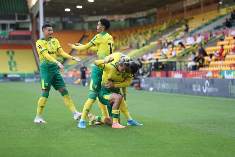Norwich played Manchester United in the FA Cup last week