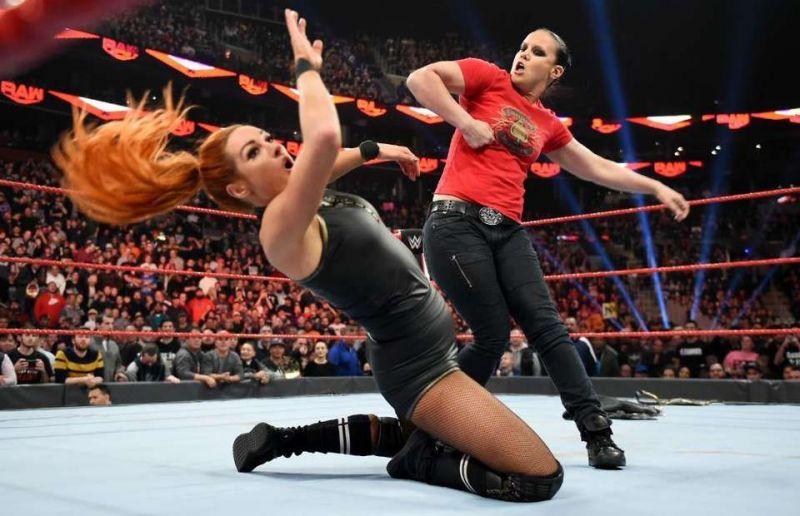 Shayna Baszler faced Becky Lynch at WrestleMania