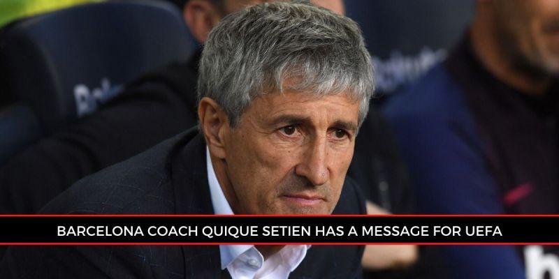 Quique Setien wants to hold the Champions League second leg fixture against Napoli at Camp Nou.
