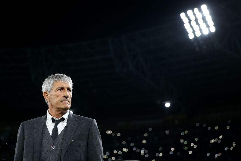 Quique Setien has divided opinion since taking charge of Barcelona