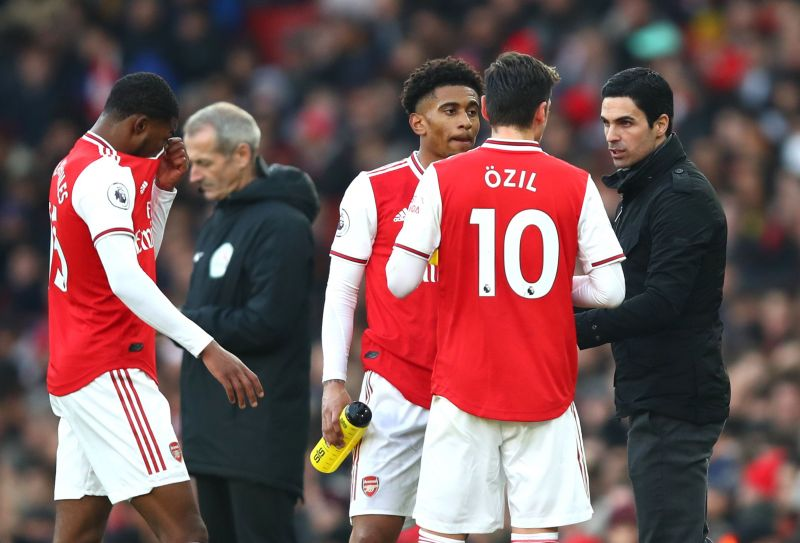 Mikel Arteta has left Ozil out of the squad a handful of times this season