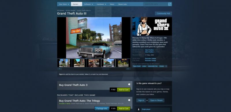 GTA 3 on Steam