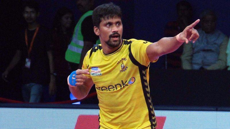 Nilesh Salunke played three seasons for the Telugu Titans since PKL Season 4.