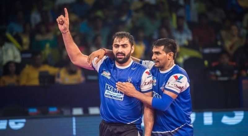 Mohit Chhillar (left) was part of one of the most feared defensive duos in the PKL, along with Surender Nada