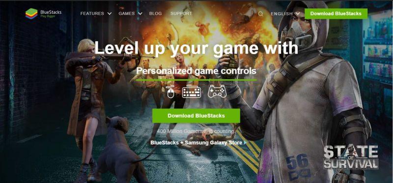 BlueStacks 4 Website