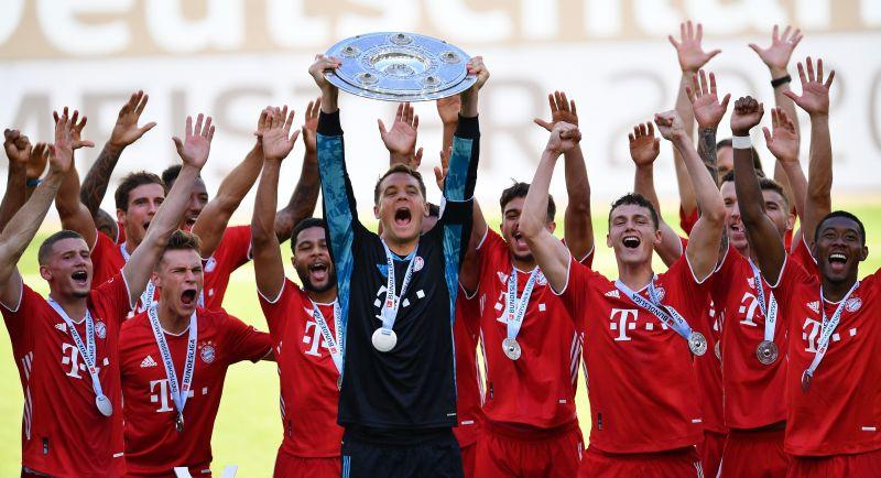 Bayern Munich won their eighth consecutive Bundesliga title