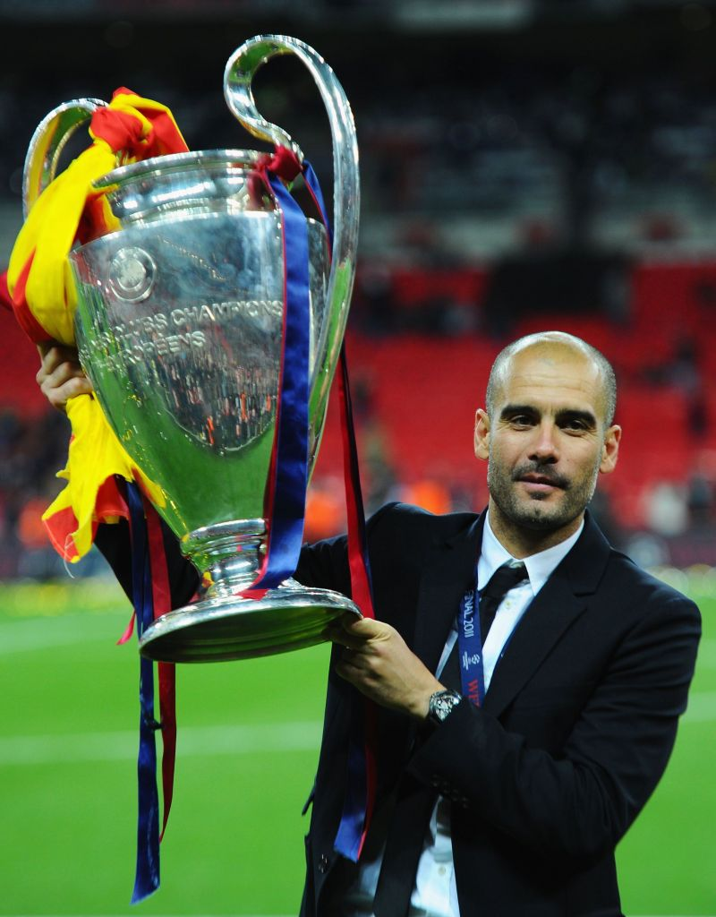Pep Guardiola won two Champions League titles with Barcelona.