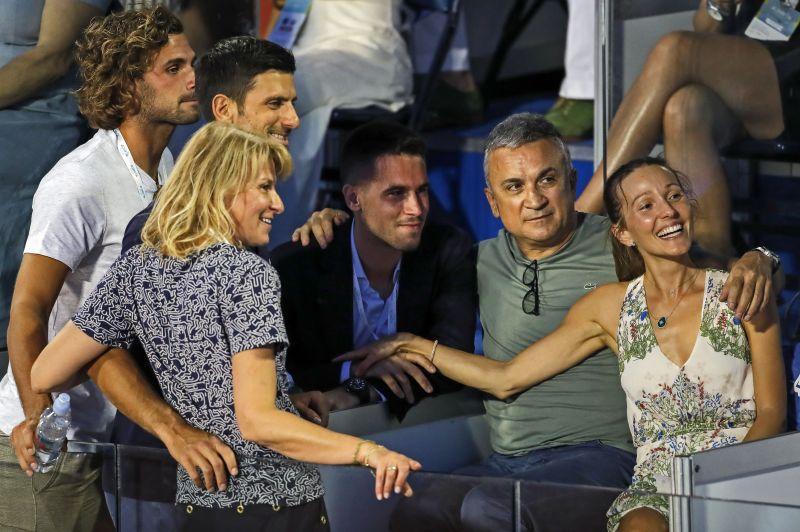 Novak Djokovic with his family at the Adria Tour