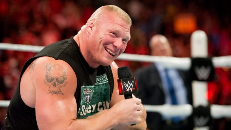 Brock Lesnar was as clear as crystal while confronting The Bro (Pic Source: WWE)