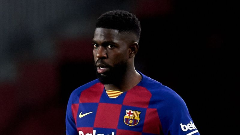 Samuel Umtiti has fallen behind Araujo de Silva and Clement Lenglet in defence.