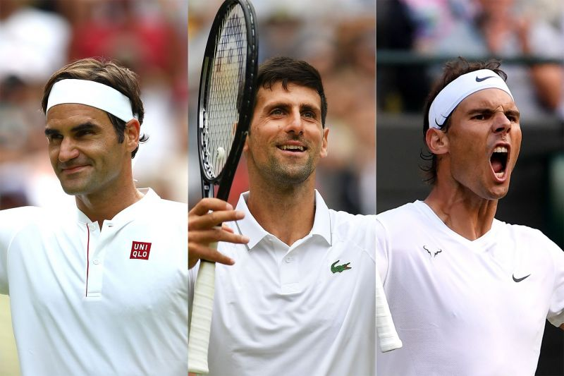 The Big 3 of Roger Federer, Novak Djokovic and Rafael Nadal