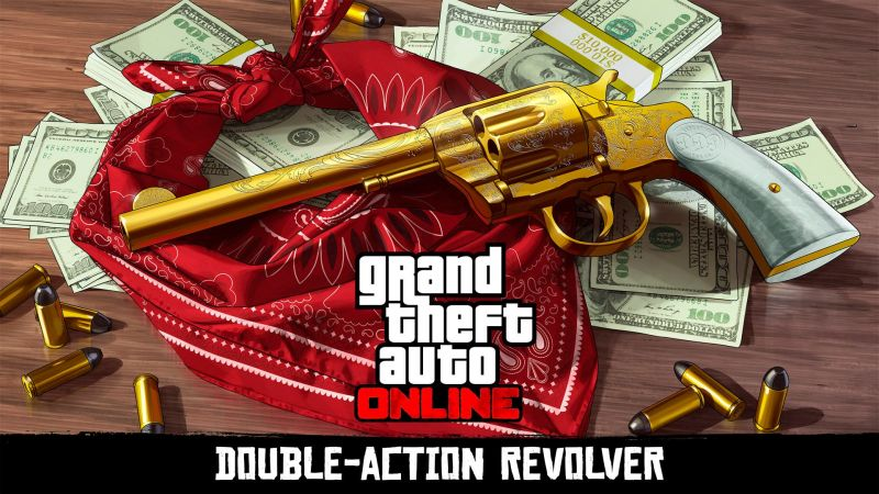 The Double-Action Revolver is part of the Treasure