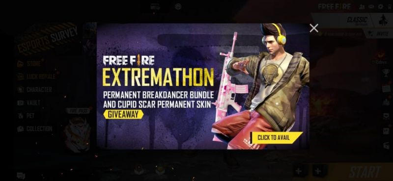 Click on the event on the main screen of the game (Picture Courtesy: Free Fire)