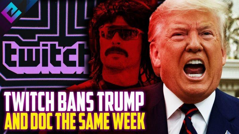 Twitch bans Donald Trump. Image: YouTube.