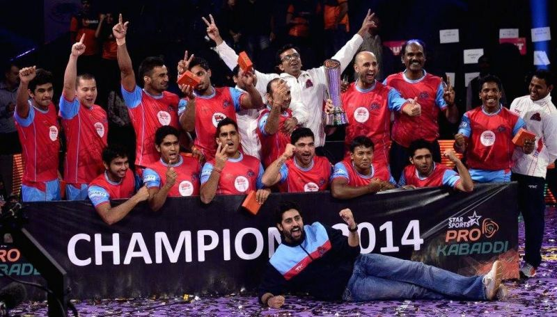Jaipur Pink Panthers were the inaugural PKL winners in 2014.