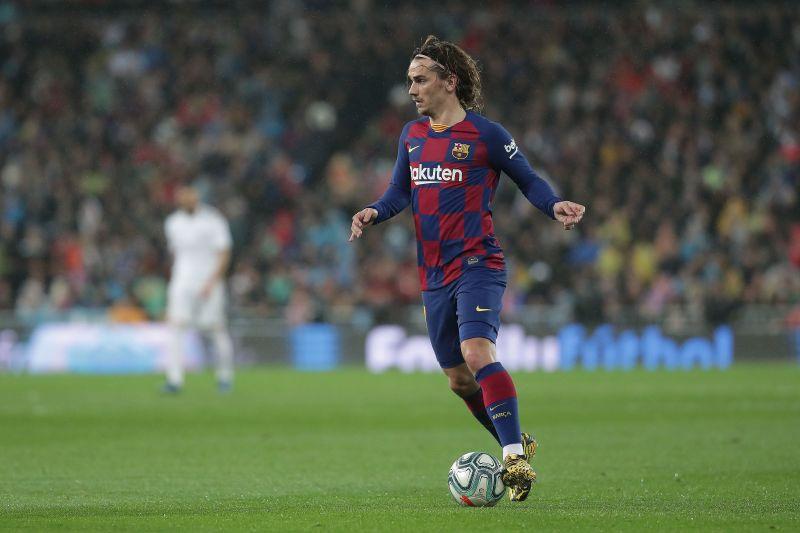 Antoine Griezmann in action for Barcelona