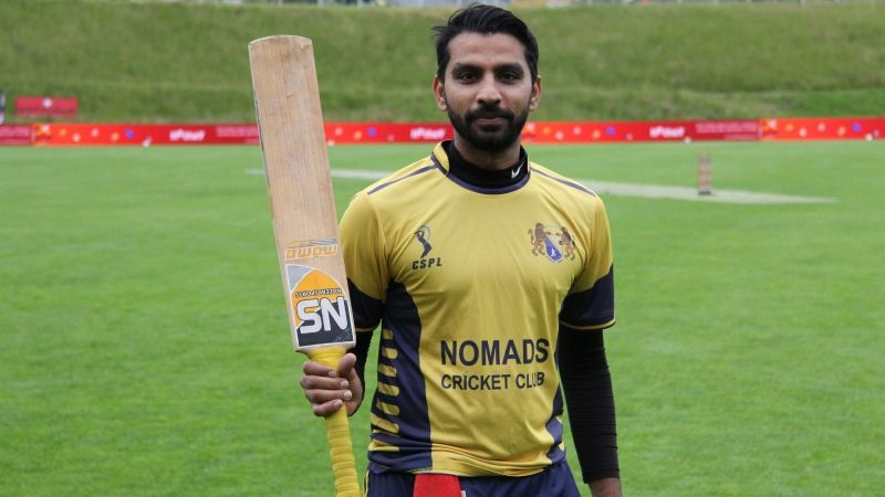 Faheem Nazir is the highest scorer in the St Gallen T10 League so far (Image credits: ecn.cricket)