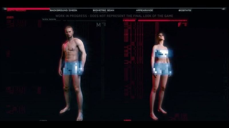 Cyberpunk 2077 has an expansive character creation system (picture credits: ign)