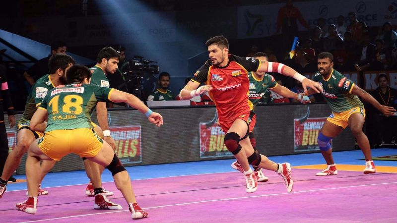Rohit Kumar was at his all-time best form against UP Yoddha in a Pro Kabaddi match
