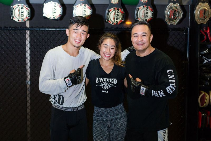 Ken Lee and his children, ONE World Champions, Christian and Angela Lee