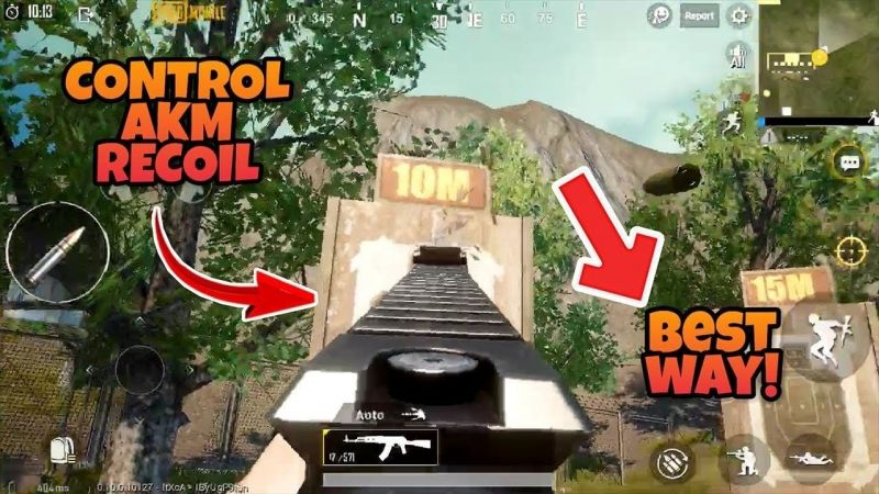 How to control the recoil of AKM