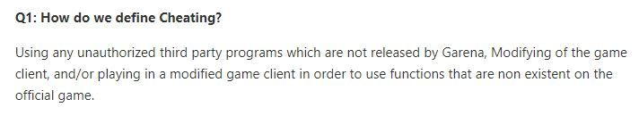New anti-cheating FAQ posted on the official website.