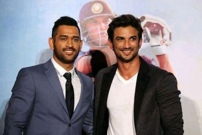 MS Dhoni and the late Sushant Singh Rajput