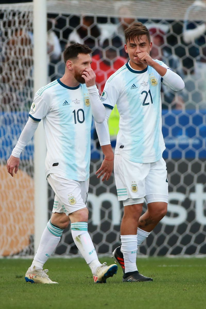 Lionel Messi (left) and Paulo Dybala need to play together for Argentia more often.